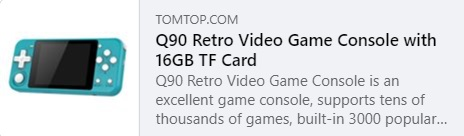 Q90 Retro Video Game Price: $26.99